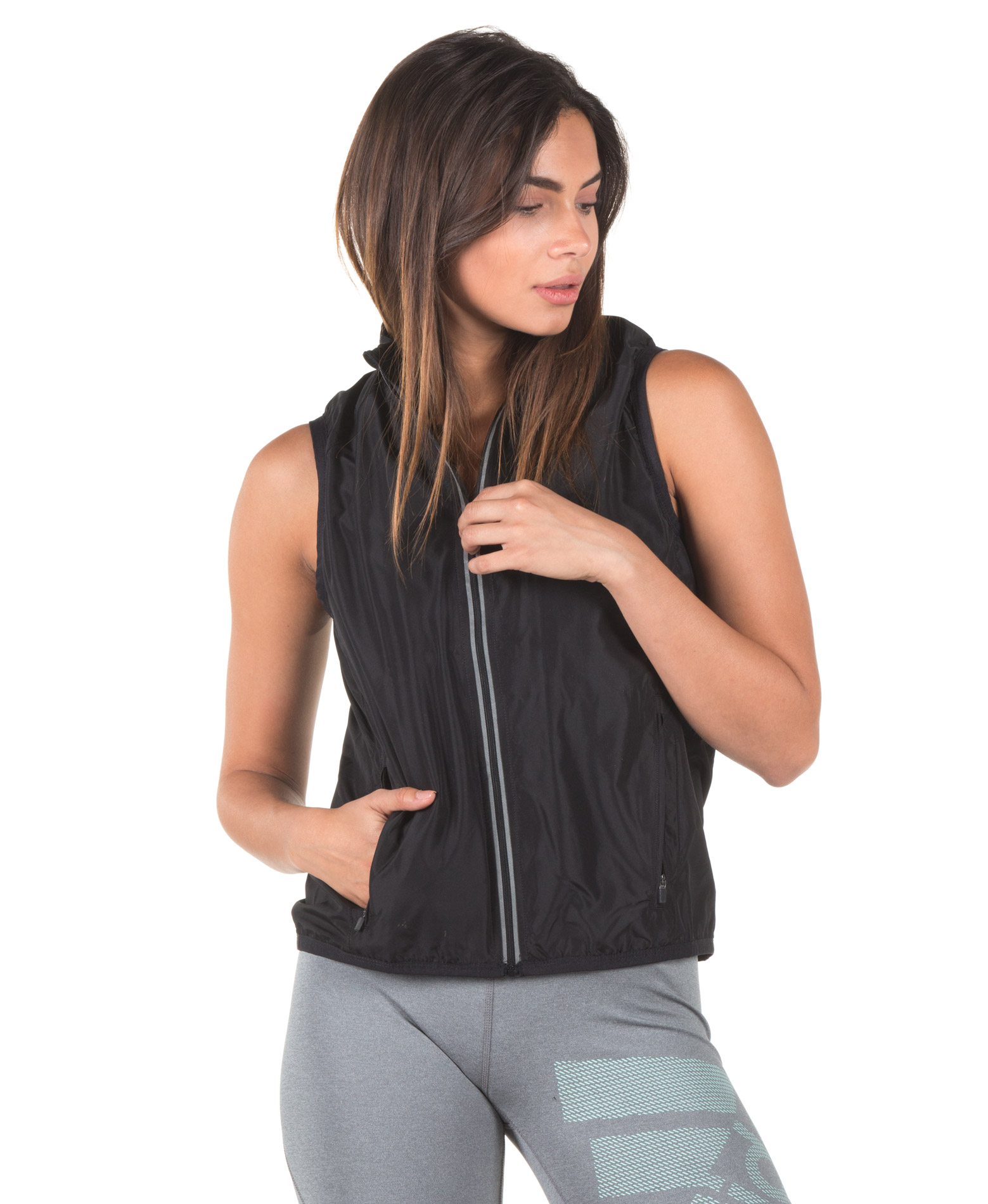 SPALDING LADIES EXHILARATION GILET 0S6006-36 Μαύρο