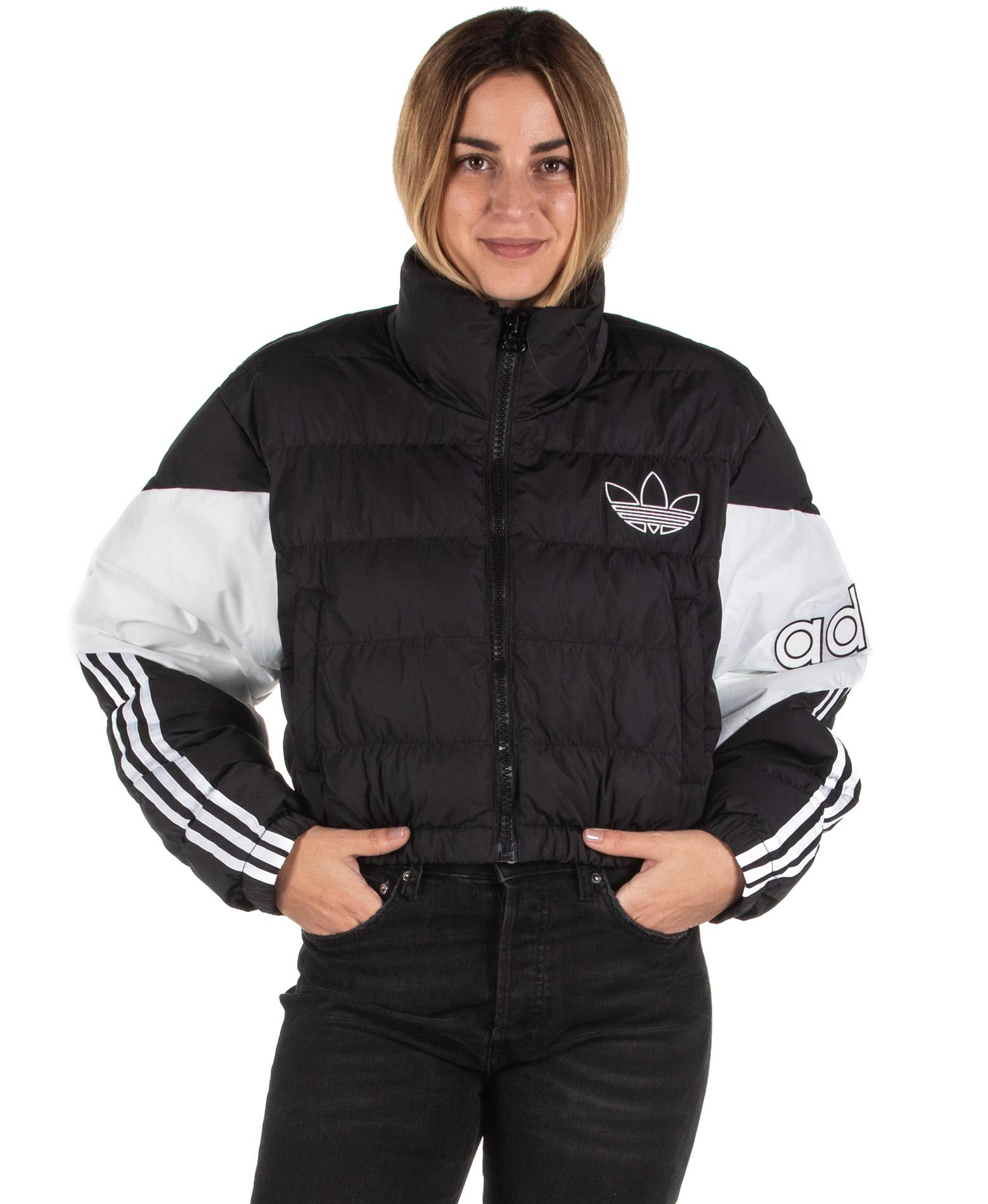 adidas Originals CROPPED PUFFER ED7598 Λευκό-Μαυρο