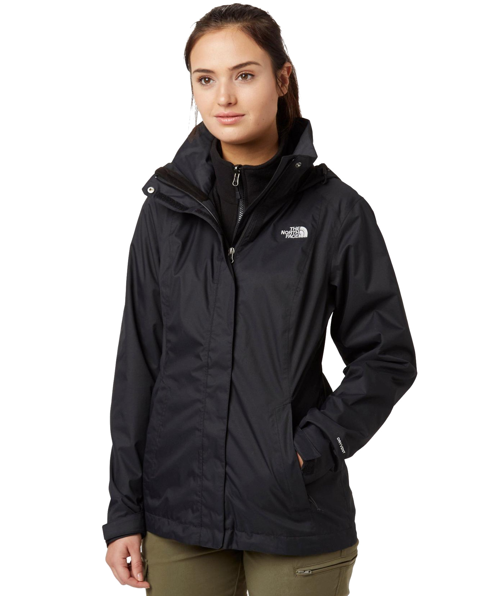THE NORTH FACE W EVOLVE II TRICLIMATE JACKET NFCG56KX7-KX7 Μαύρο