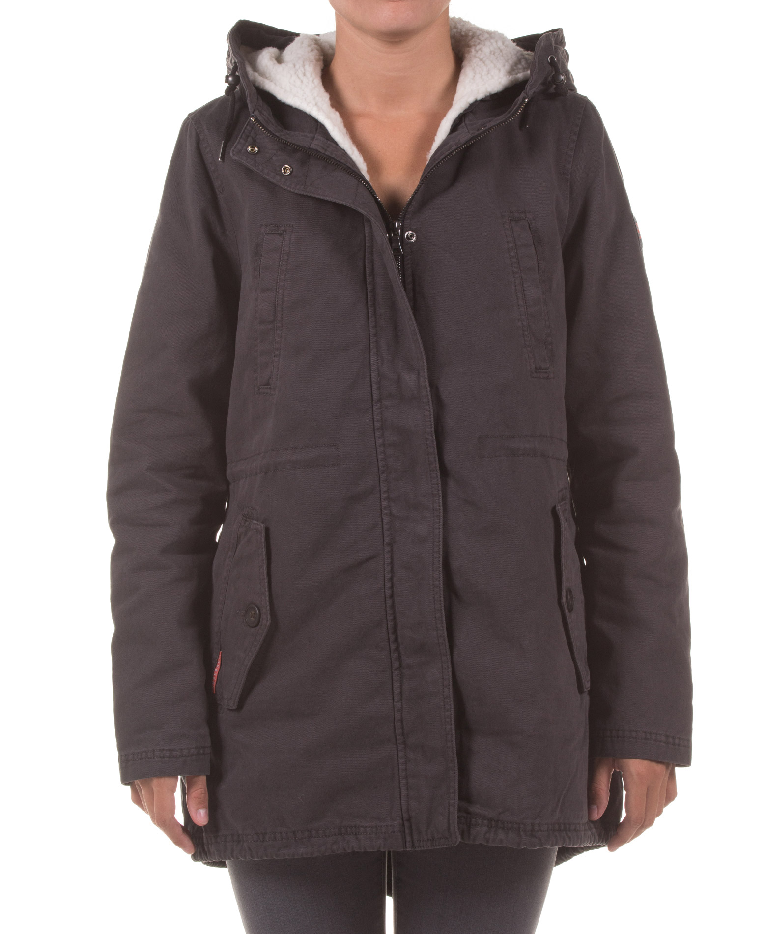 SUPERDRY ROOKIE SHERPA MILITARY G50013TP-OOQ Ανθρακί
