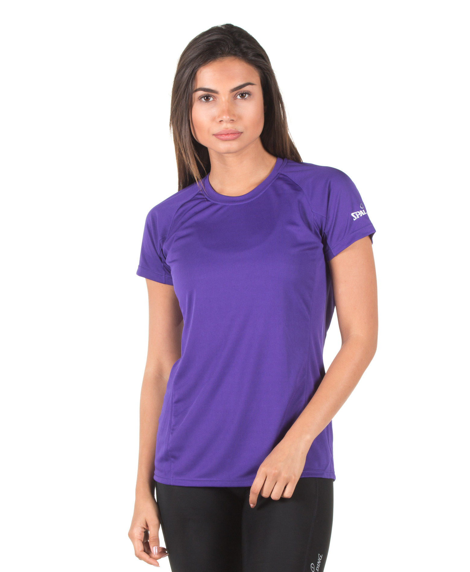 SPALDING LADIES ESSENTIAL TEE 0S1176-81 Μωβ