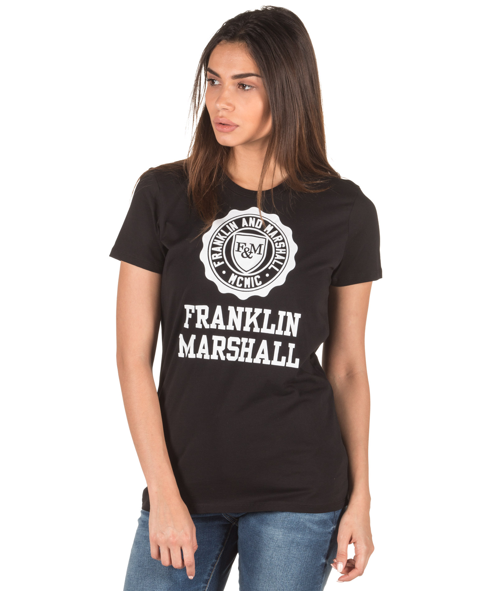 ΕΝΔΥΜΑΤΑ TShirt FRANKLIN MARSHALL TSWF586AN-0021 Μαύρο