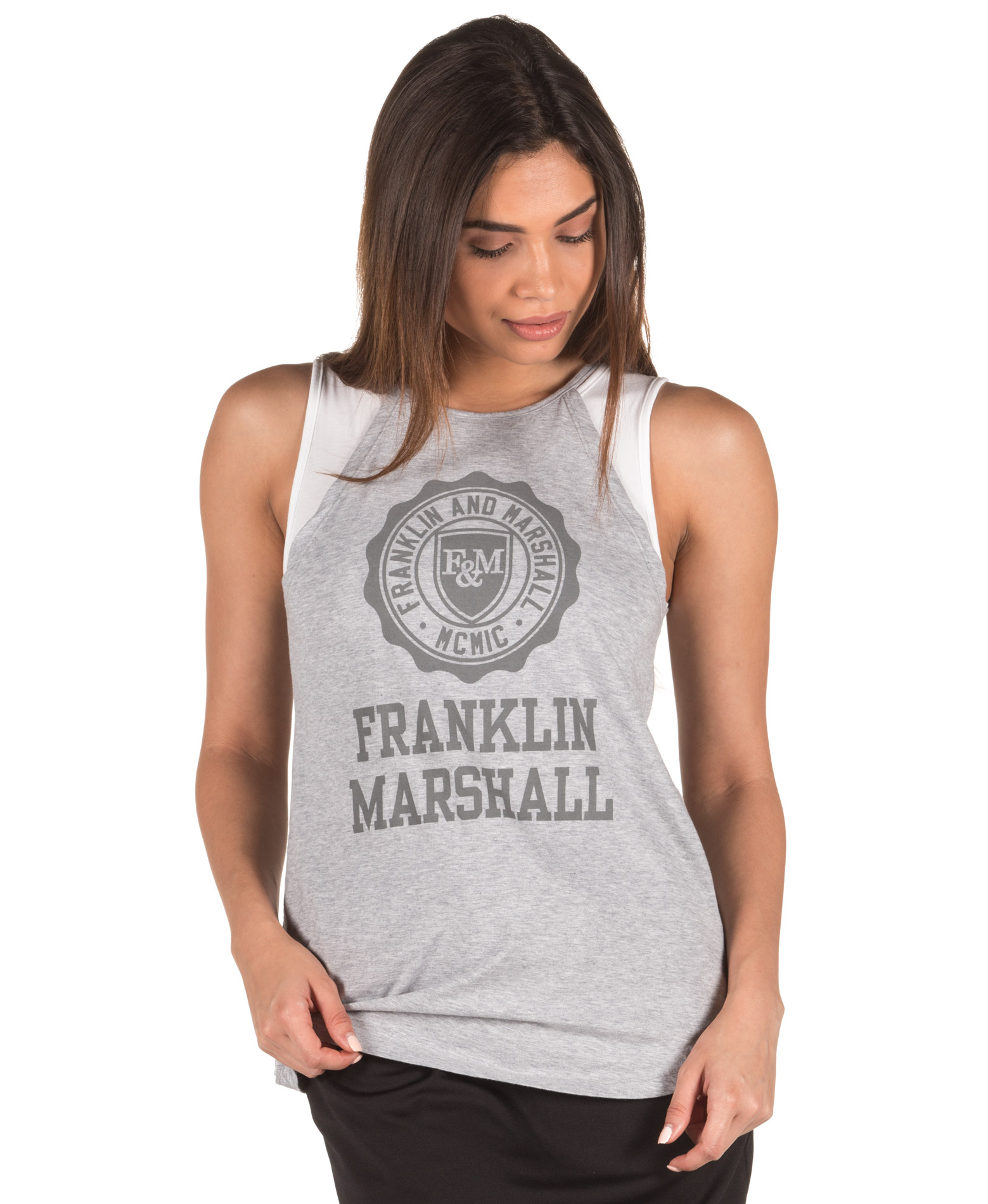 ΕΝΔΥΜΑΤΑ TShirt FRANKLIN MARSHALL TOWF632AN-0397 Γκρί