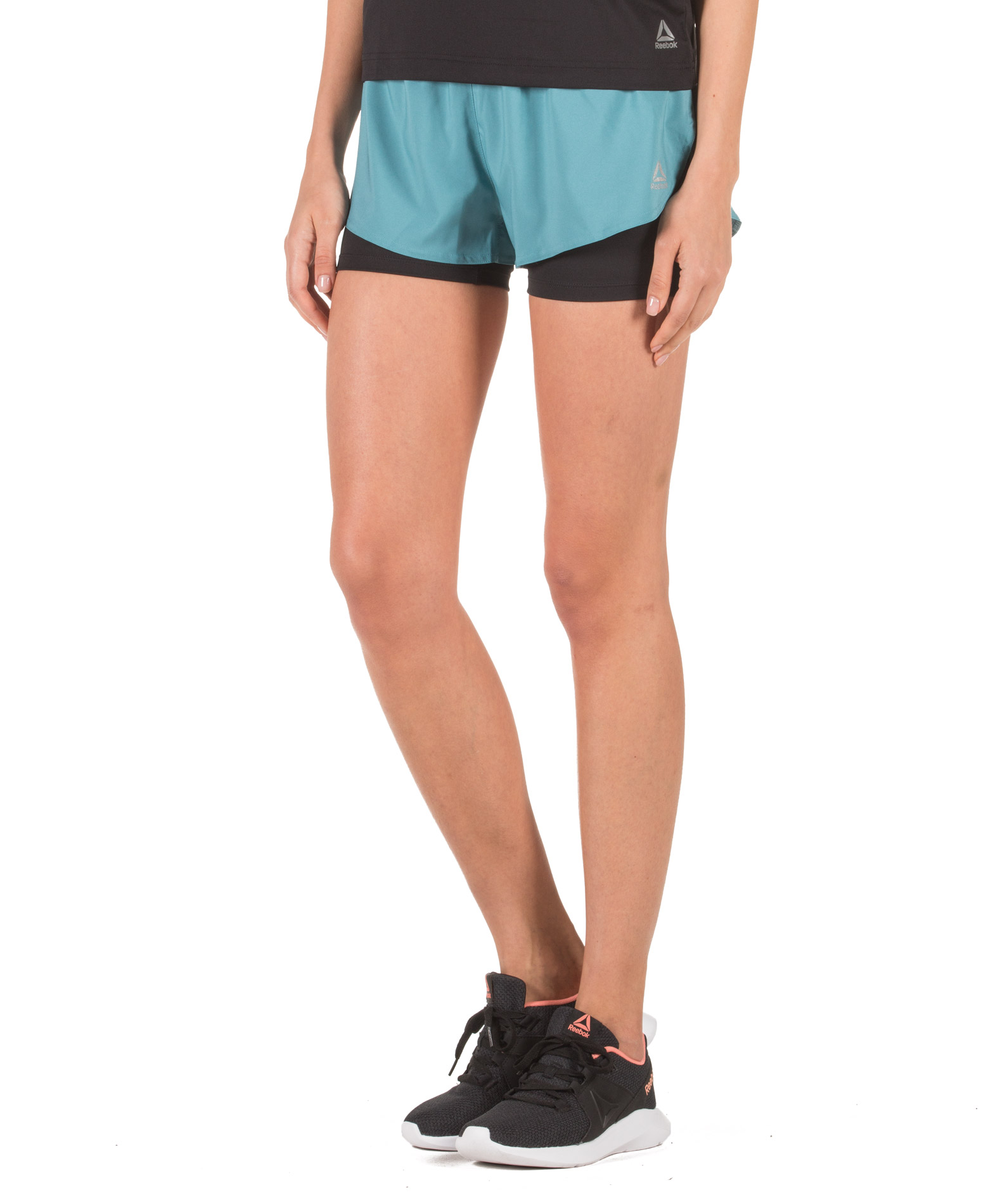 Reebok Sport 2-IN-1 SHORT DP6592 Πετρόλ