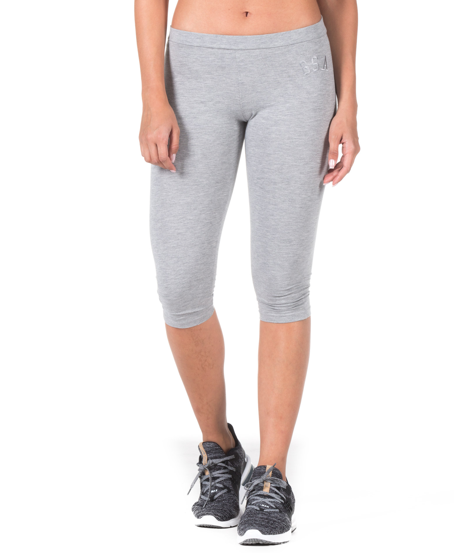 GSA WMN CAPRI LEGGINGS 88-2415-GREY MEL Γκρί