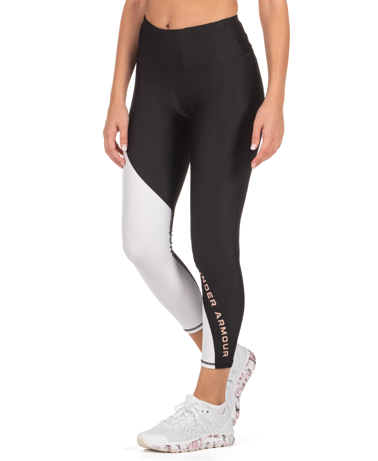 UNDER ARMOUR HG ACB ANKLE CROP 1356385-001 Λευκό-Μαυρο
