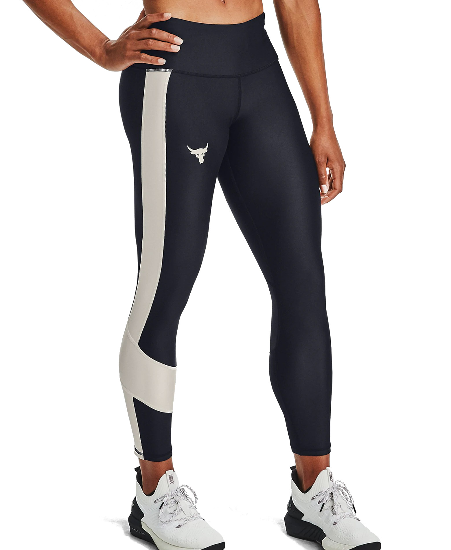 UNDER ARMOUR PROJECT ROCK ANKLE CROP KAPRI 1359259-001 Μαύρο