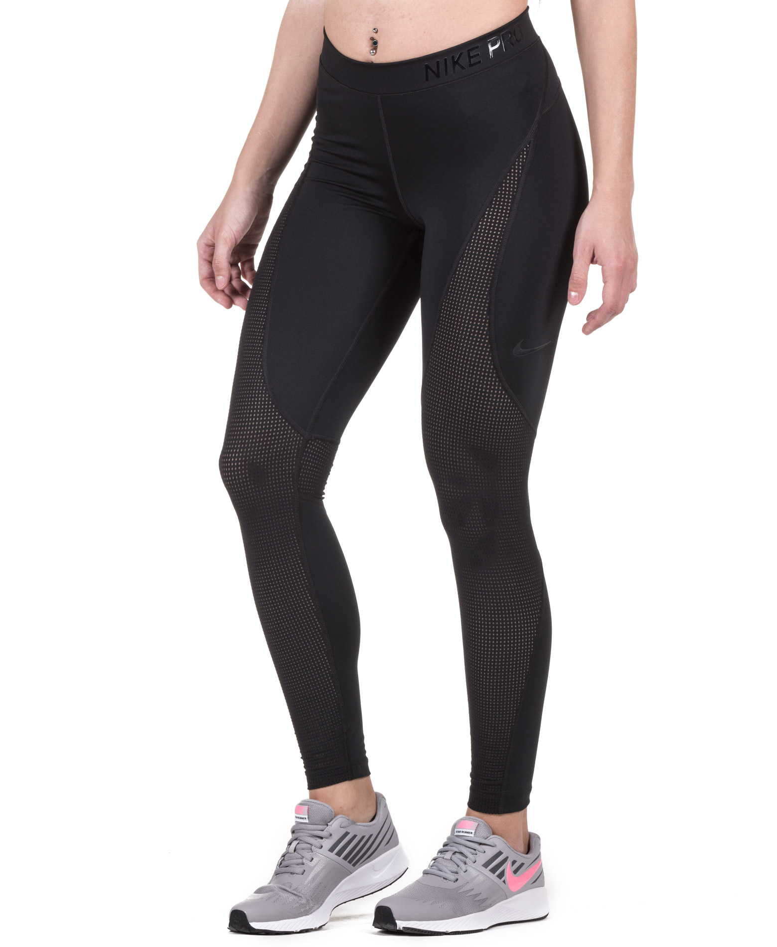 NIKE W NP HPRCL TIGHT 889645-010 Μαύρο