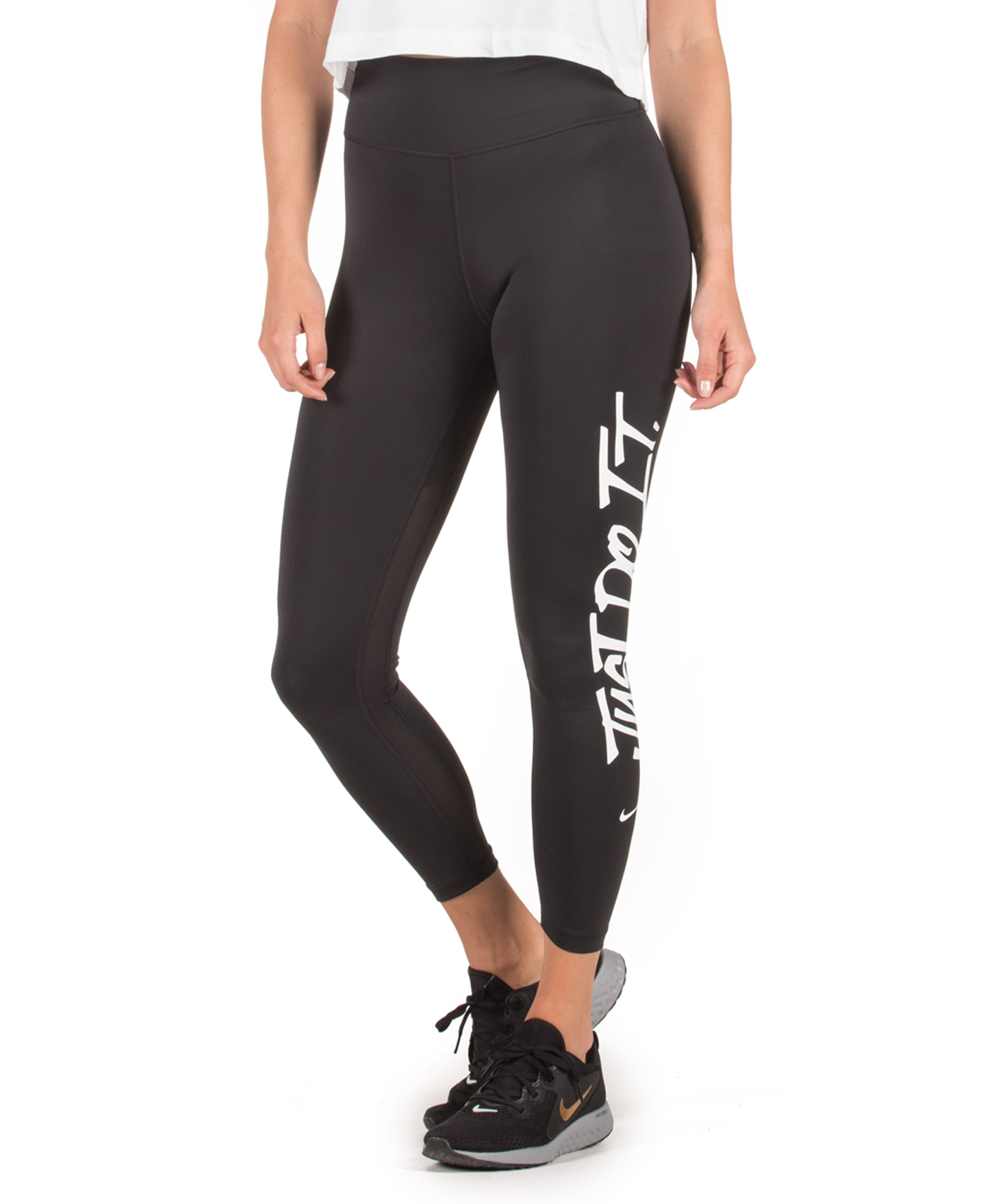NIKE W NK ALL-IN TIGHT JDI GRX AR7558-010 Μαύρο