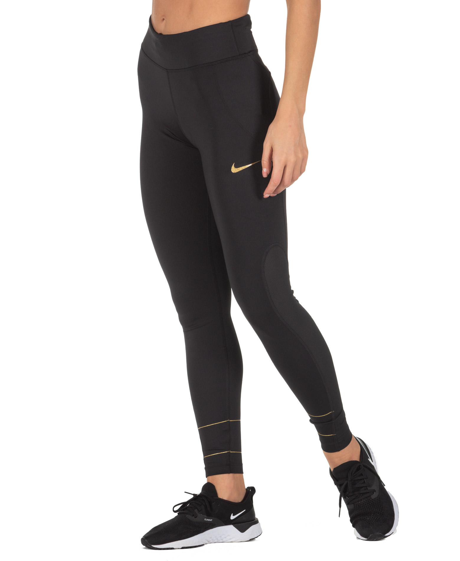 NIKE FAST WOMEN'S RUNNING TIGHTS CJ9710-010 Μαύρο