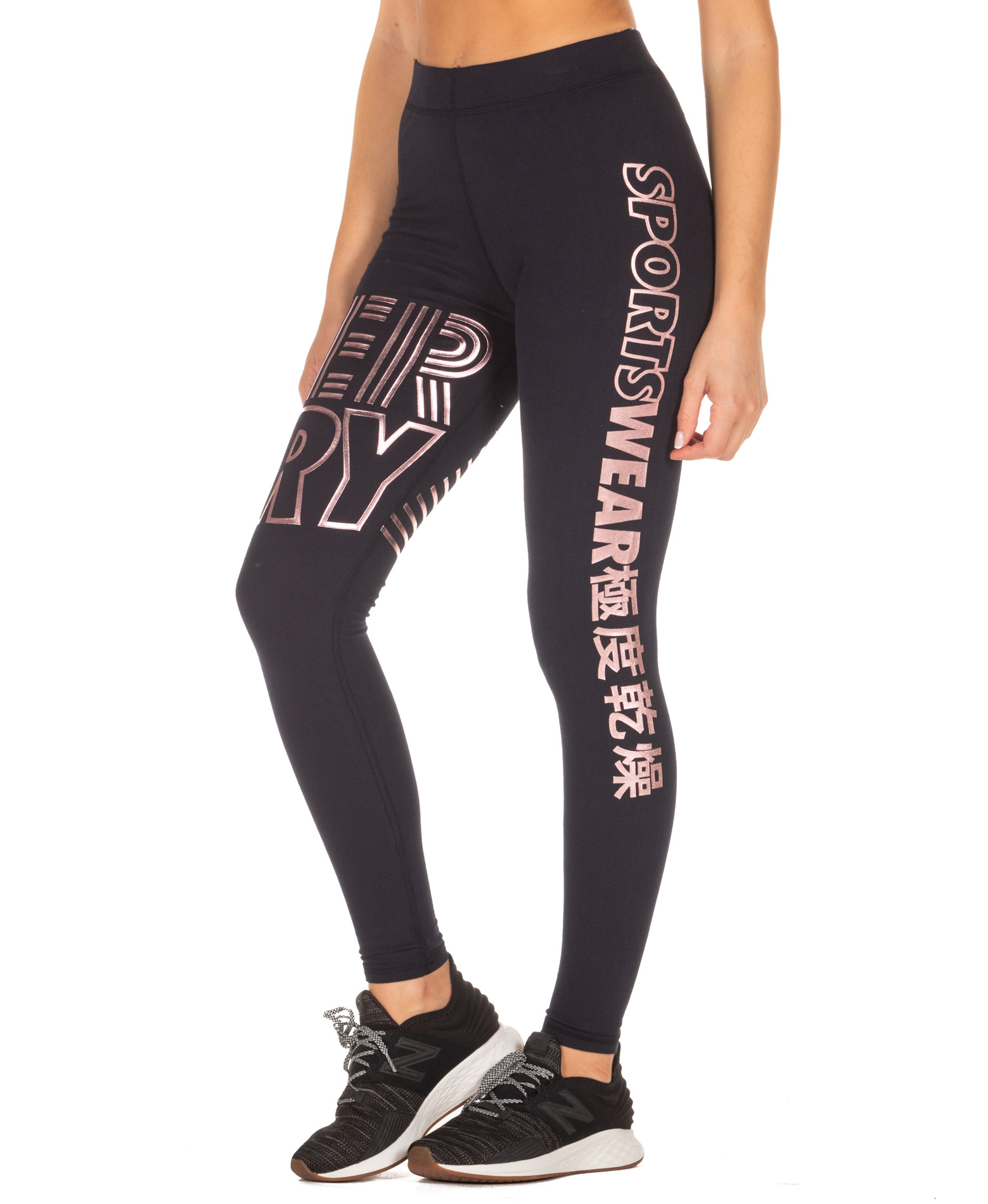 SUPERDRY FLASH SPORT LEGGING GS3106TU-24S Μπλε