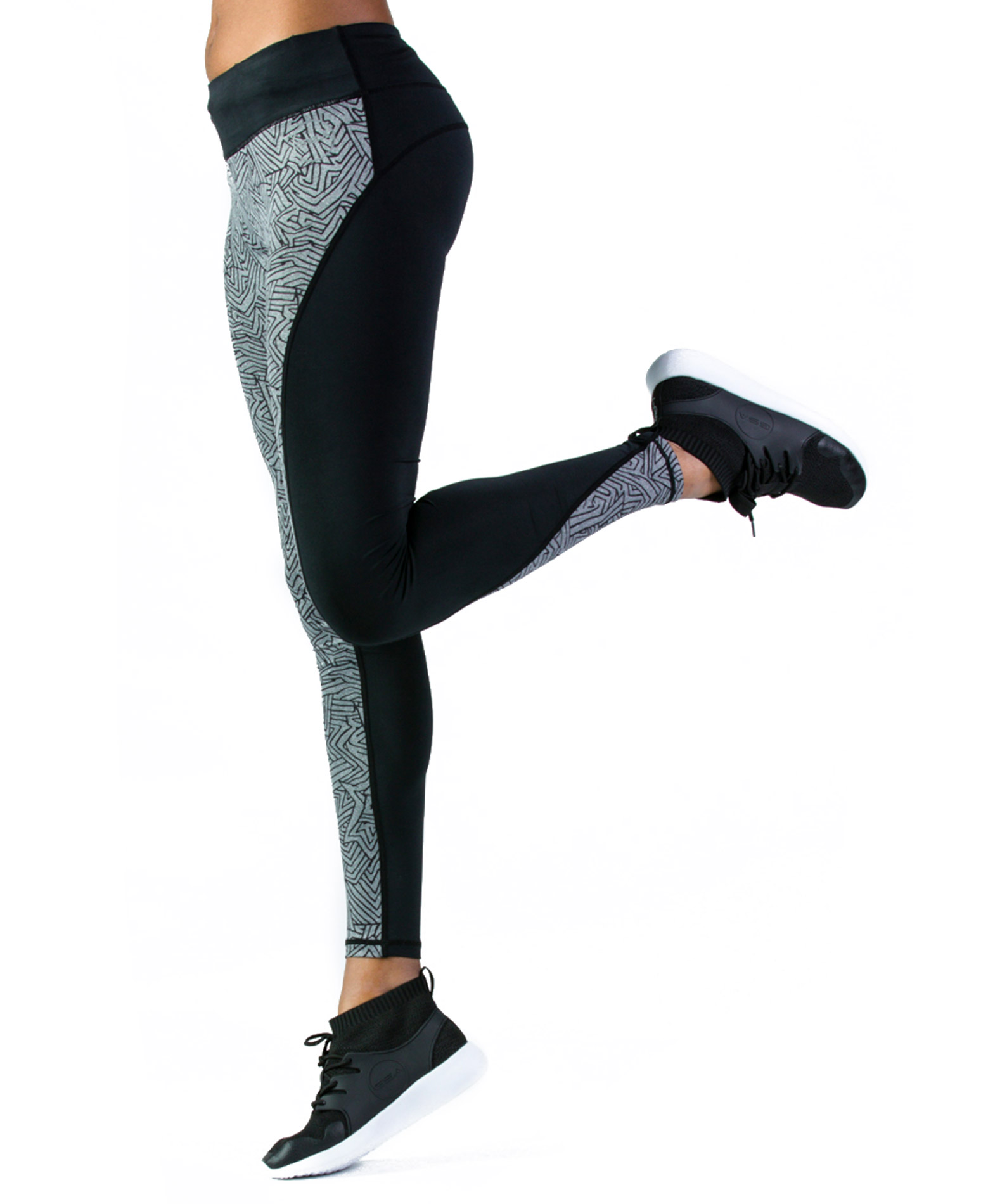 GSA HYDRO SUBLIMATION PERFORMANCE LEGGINGS 17-27028-CHARCOAL Ανθρακί