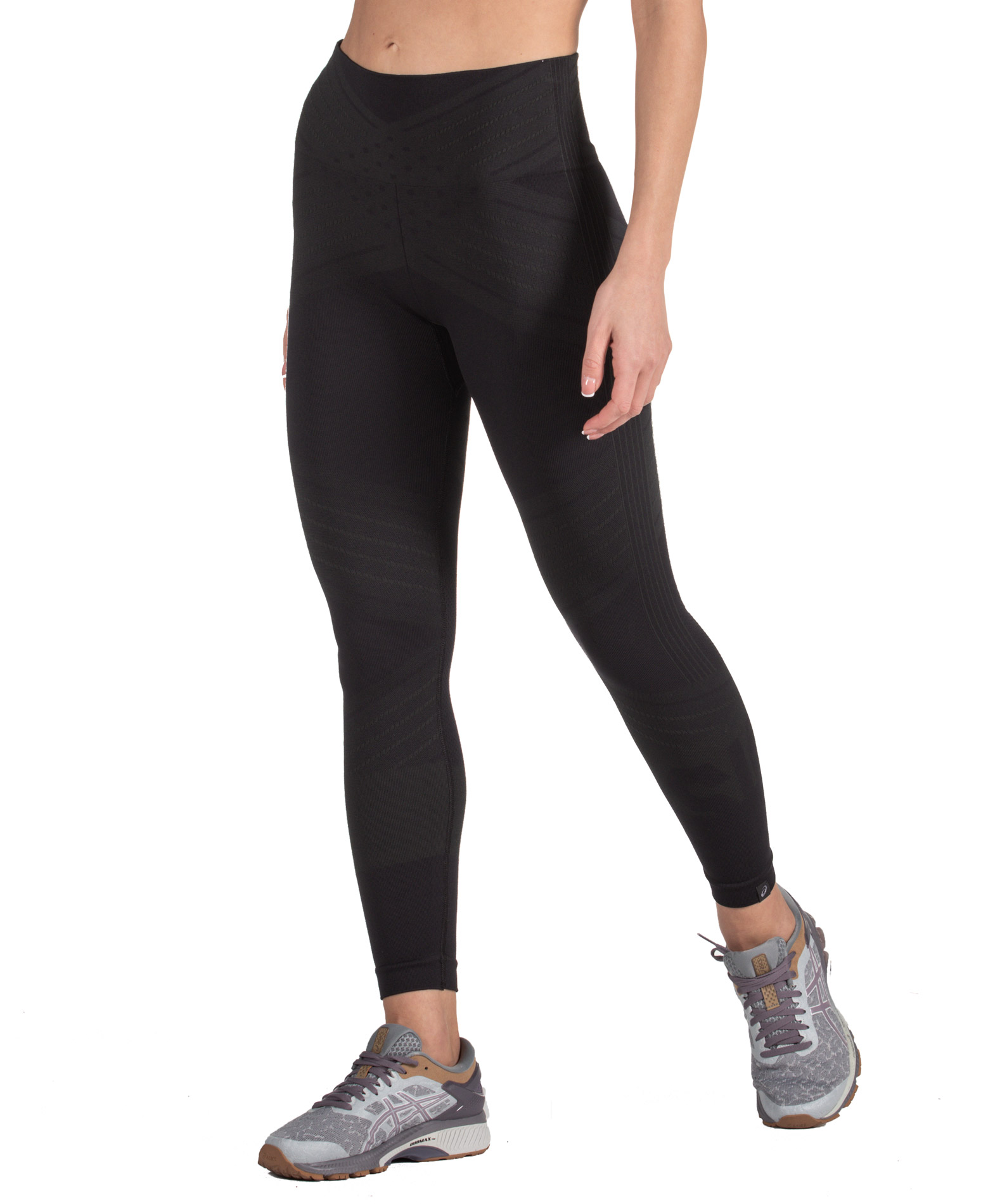 ASICS W SEAMLESS CPD TIGHT 2032A811-001 Μαύρο