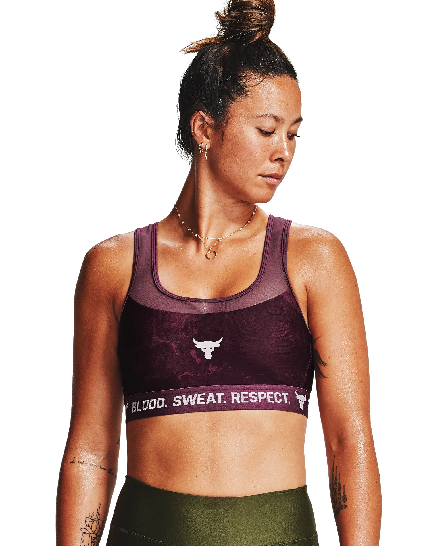 UNDER ARMOUR PROJECT ROCK BRA 1356963-569 Μωβ