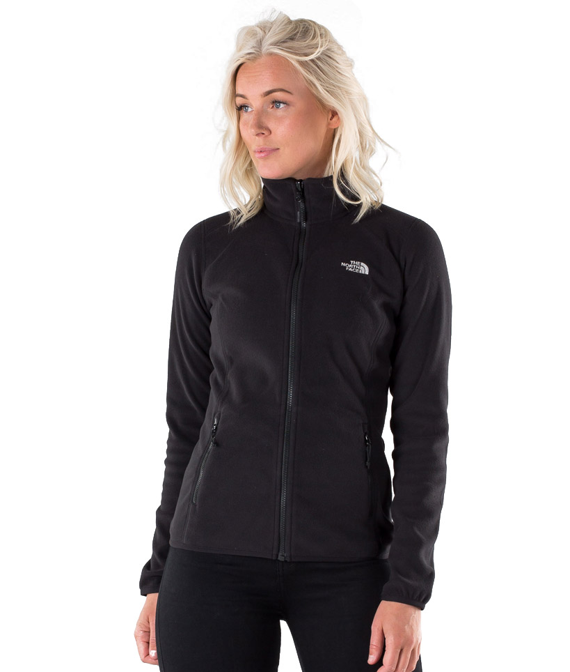 THE NORTH FACE W 100 GLACIER FULL ZIP NFA2UAUJK3-JK3 Μαύρο