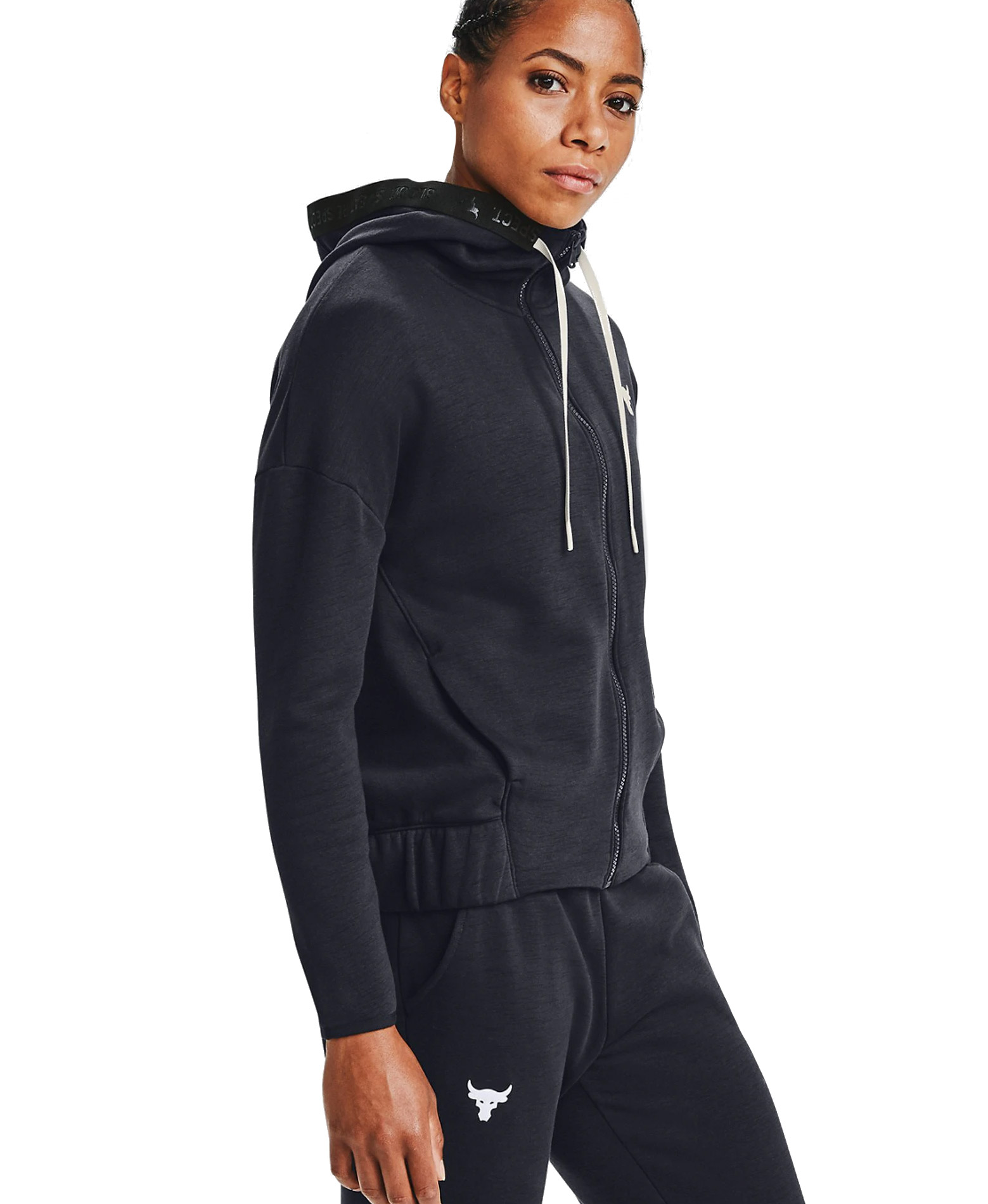 UNDER ARMOUR PROJECT ROCK CC FLEECE FZ SWEAT JACKET 1356958-001 Μαύρο