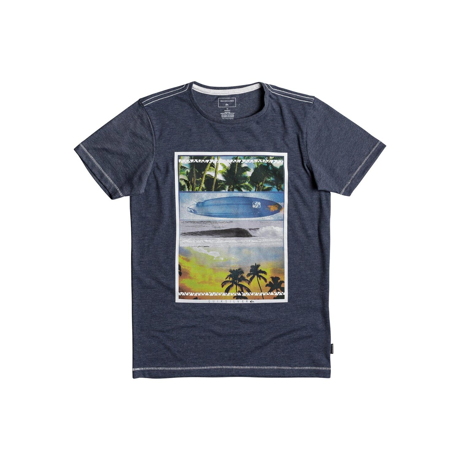 QUIKSILVER SS HEATHER TEE PLACE TO BE YOUTH EQBZT03692-BYJH Μπλε παιδι   ενδυματα   κοντομάνικα