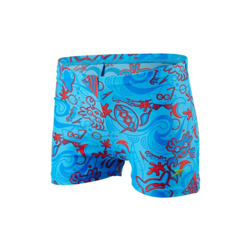 SPEEDO SEASQUAD ALLOVER AQUASHORT 8-09218B419 Σιελ bebe   ενδύματα   μαγιό