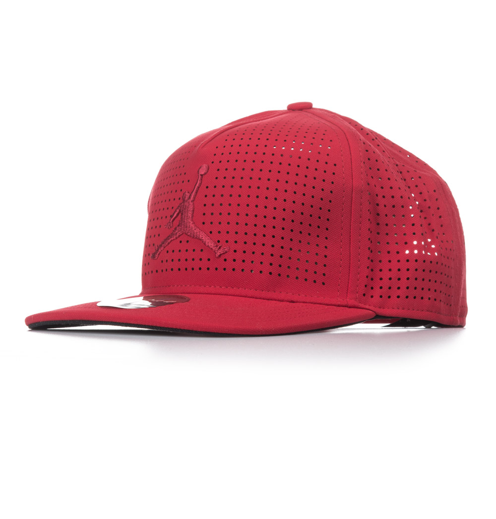 JORDAN JUMPMAN PERFORATED SNAPBACK HAT 835339-687 Κόκκινο